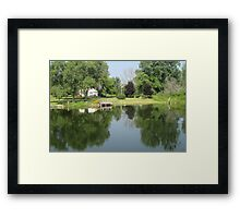 Cottage on the Water Front Framed Print
