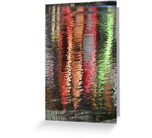 Canoes Reflected in Water Greeting Card