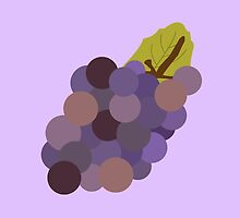 Grapes minimalist fruit -- kitchen print by MicrowaveDesign