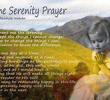 Little girl praying by Dulcina