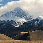Snow Falls on Mount Borah by J. D. Adsit