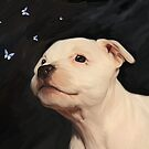 Staffy puppy!! by Cazzie Cathcart