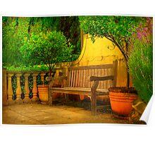 Mediterranean Bench ~ No 1 Poster