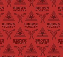 Browncoats forever, Firefly Pattern in Red by Kelly Street