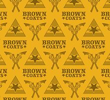 Browncoats forever, Firefly Pattern in Yellow by Kelly Street