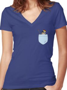 Pocket Moriarty Women's Fitted V-Neck T-Shirt