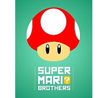 Super Mario Brothers glow print Photographic Print