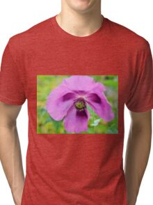 Floral Cross Tri-blend T-Shirt