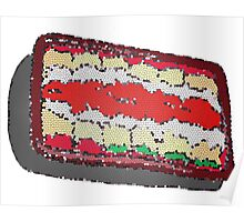 Tub of Lasagna rolls- stained glass Poster