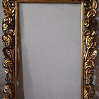 Aged Hand Carved Frame With Gold Leaf by rtouve