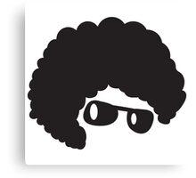 AFRO hair cute in shades Canvas Print