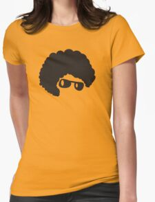 AFRO hair cute in shades Womens Fitted T-Shirt