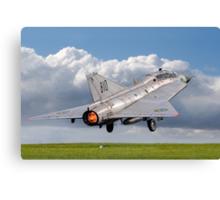 SAAB Sk-35C Draken 35810 SE-DXP blasting off Canvas Print