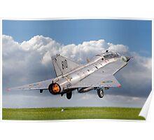 SAAB Sk-35C Draken 35810 SE-DXP blasting off Poster