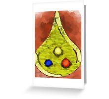 Three Jewels Greeting Card