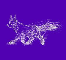 White Melting Dog - Bright Purple by CaptainRakeHand