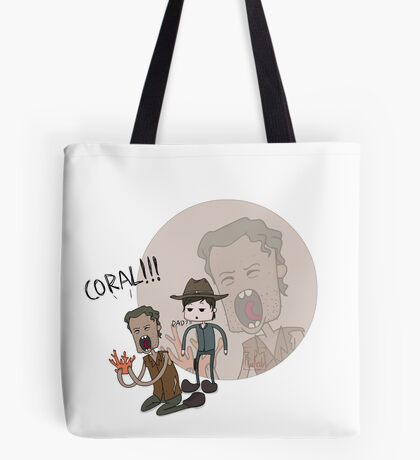 The Walking Dead Coral Tote Bag