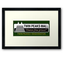 Twin Peaks Mall Framed Print