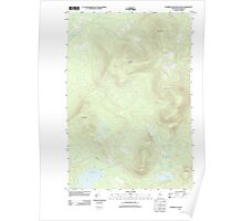 Maine USGS Historical Map Number Four Mountain 20110831 TM Poster