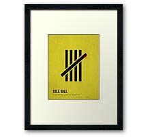 Kill Bill minimalist print Framed Print