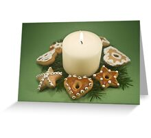 Candle and Christmas Cookies Greeting Card