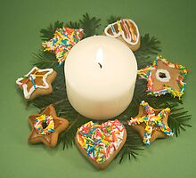 Candle and Christmas Cookies by Tim Scott