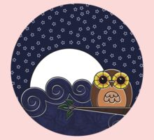 Night Owl - Circle Design Kids Clothes