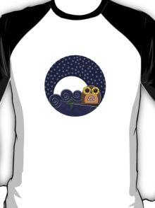 Night Owl - Circle Design T-Shirt