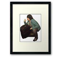 """The Squatting Admin"" - Digital, 2015 Framed Print"