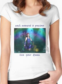 Dawn Mist Fairy Tshirt Women's Fitted Scoop T-Shirt
