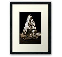 Gambling pyramid Framed Print