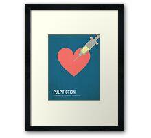 Pulp Fiction minimalist print Framed Print