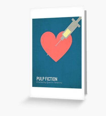 Pulp Fiction minimalist print Greeting Card