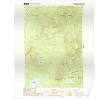 Maine USGS Historical Map Number Four Mtn 102839 1988 24000 Poster