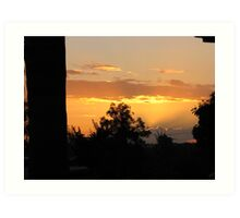Brisbane sunset Art Print