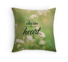 Jane Austen Heart Emma Throw Pillow