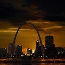 St. Louis Missouri at Sundown by barnsis