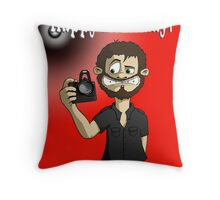 Happy greetings from the Cameraman Throw Pillow
