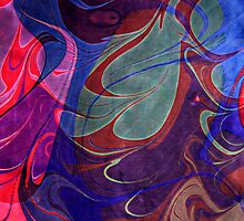 Marbled - Bold Swirls by Georgie Sharp