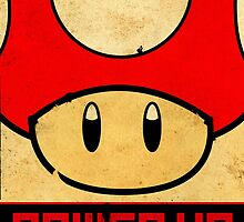 Super Mario Mushroom Propaganda by MicrowaveDesign