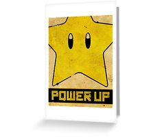 Super Mario Star Propaganda Greeting Card