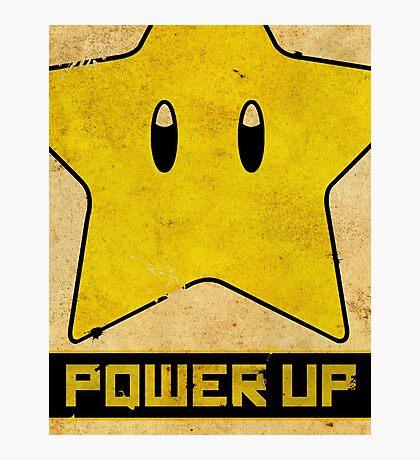 Super Mario Star Propaganda Photographic Print