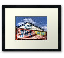Joe`s To Go - HDR- Fremantle WA Framed Print