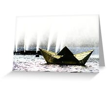 Paper Hat Greeting Card