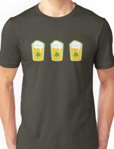 Three irish green shamrock beers pints Unisex T-Shirt