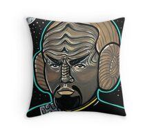 Worf Princess Leia Throw Pillow