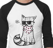 Hipster Cat Men's Baseball ¾ T-Shirt