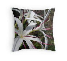 Wild White Australian Flowers Throw Pillow