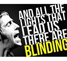 Oasis -- Wonderwall lyrics Photographic Print