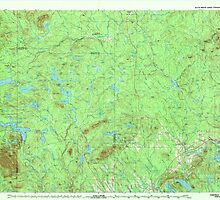 Maine USGS Historical Map Oakfield 808137 1994 100000 by wetdryvac